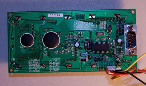 jumper settings for crystalfontz cfah 634 serial lcd display