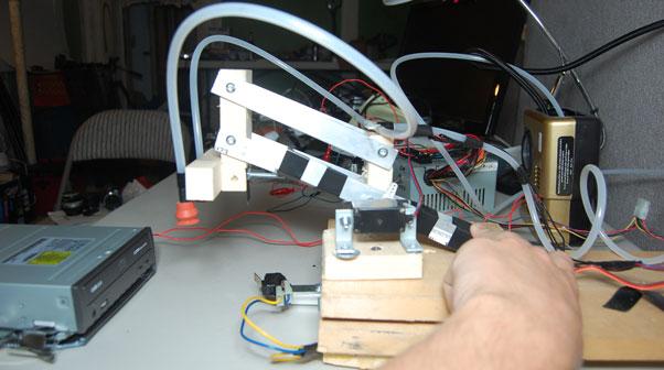 arduino powered cd robot - left side