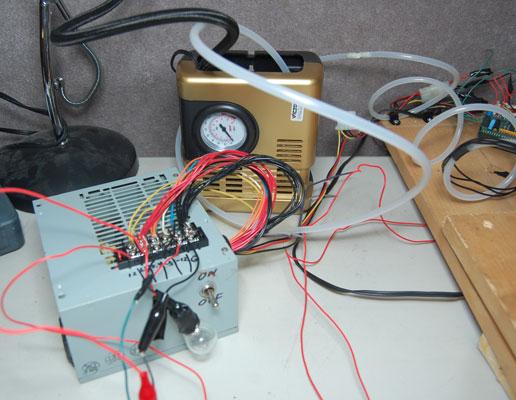 arduino powered cd robot - PC power supply and Vacuum Pump