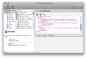 Automator script to increase gmail pop checking frequency