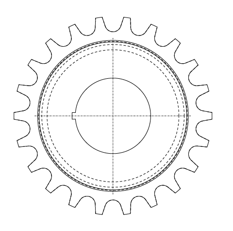 Designing Gears Cogs Sprockets In Illustrator For Laser Cutting on sprocket drawings